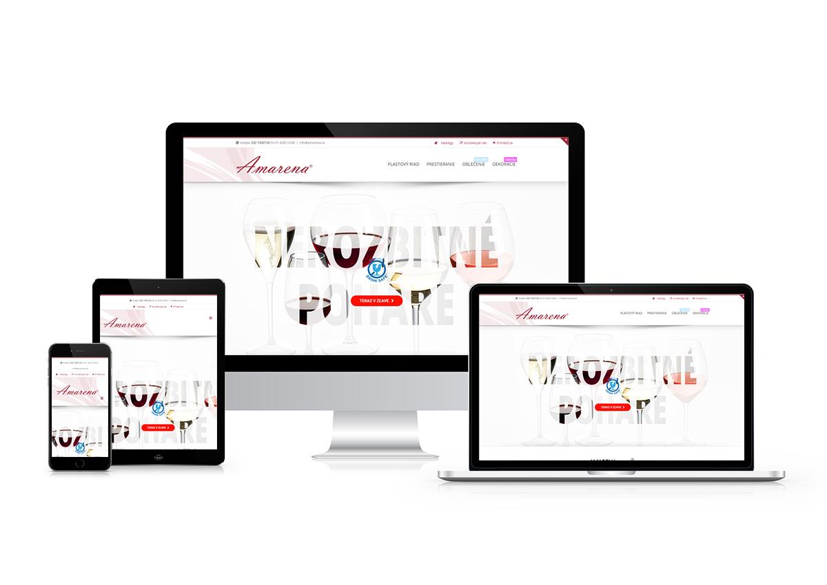 www.amarena.sk responzívny dizajn