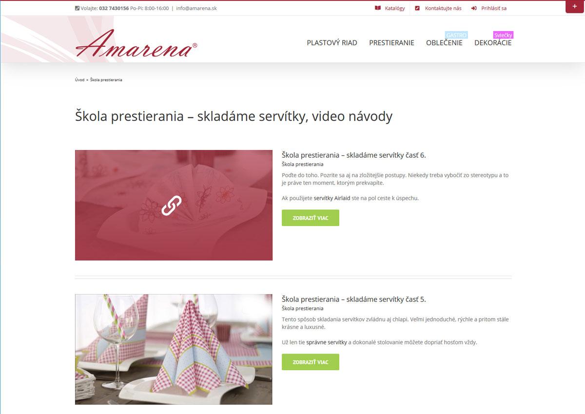 www.amarena.sk videá