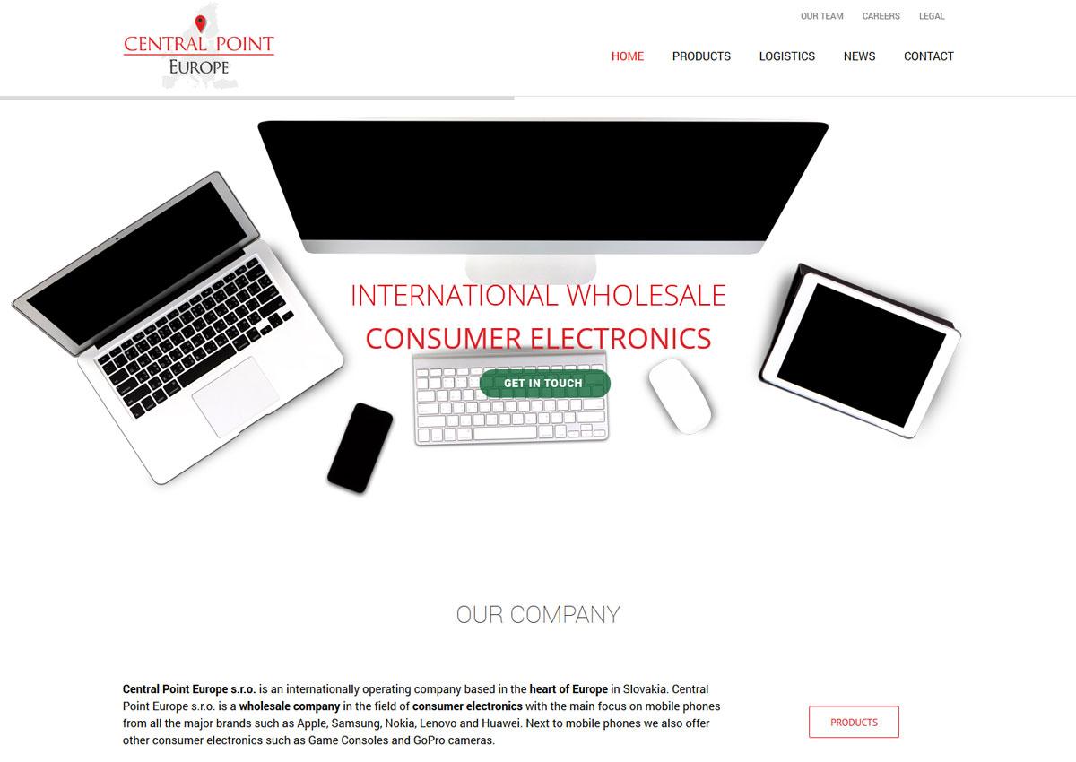 ww.centralpointeurope.com homepage
