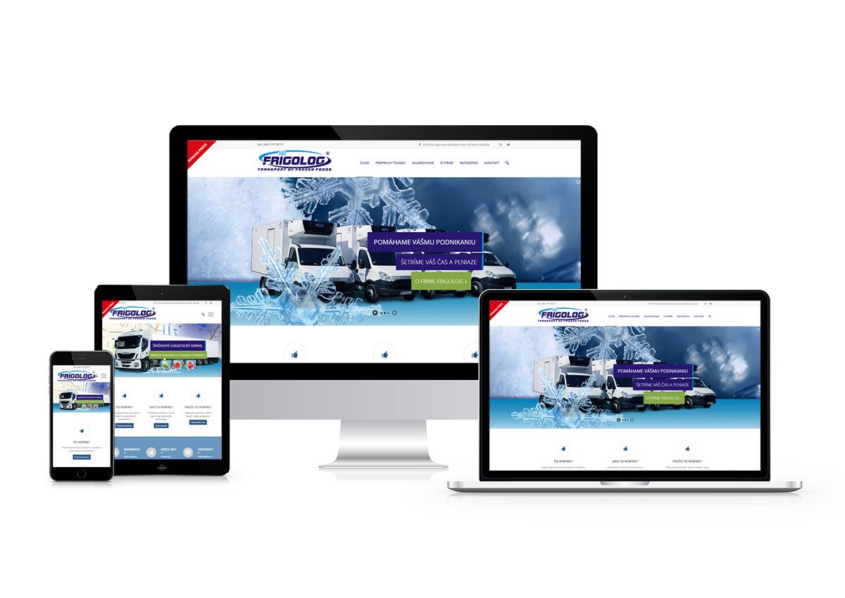webstránka frigolog.sk responzívny dizajn