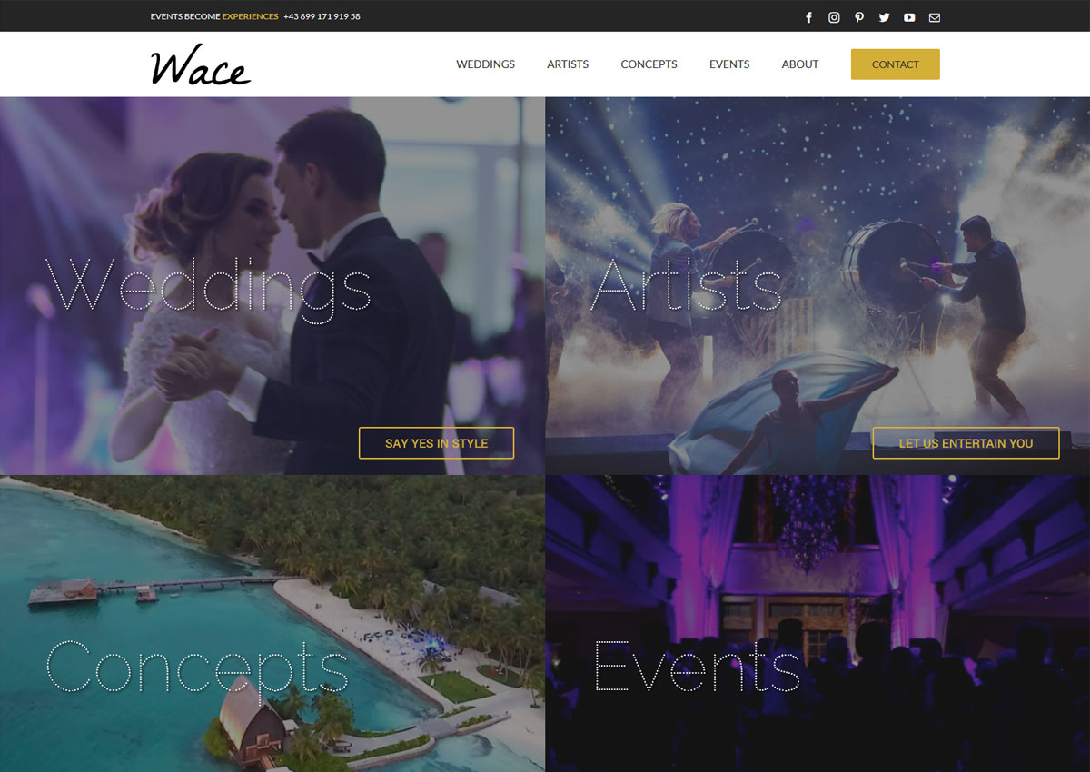 www.wace.agency homepage