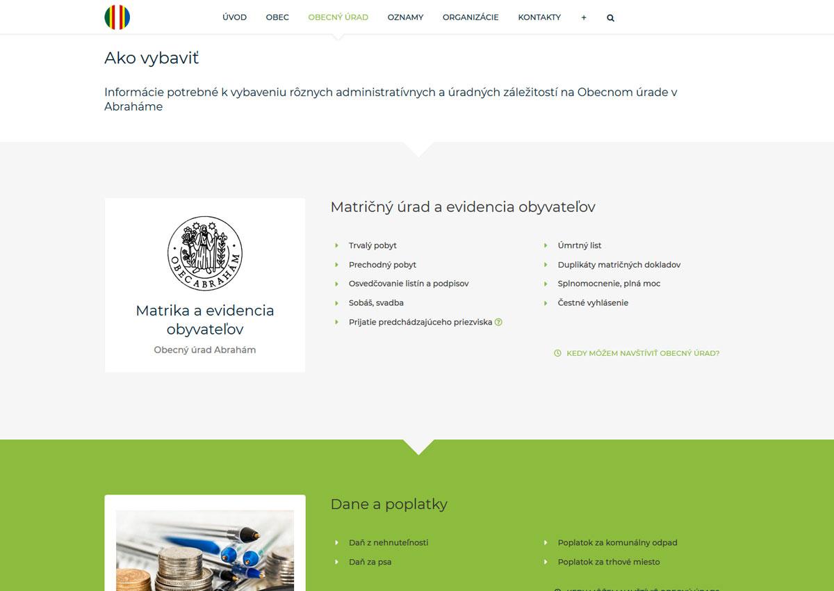 www.abraham.sk sekcia Ako vybaviť
