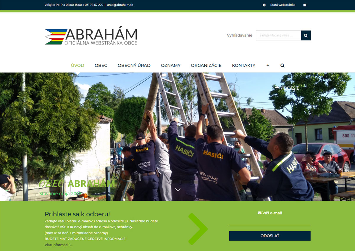 www.abraham.sk homepage