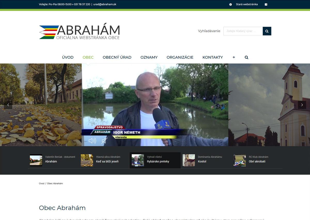 www.abraham.sk o obci