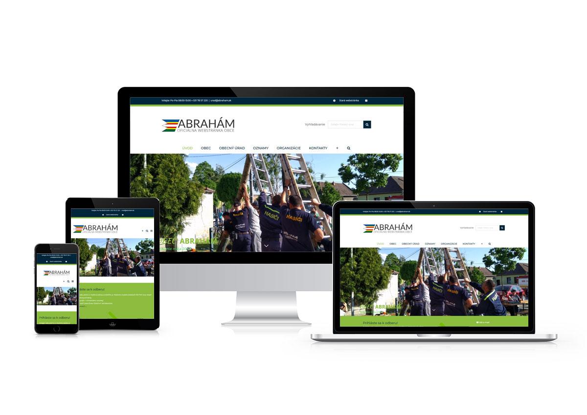 www.abraham.sk responzívny dizajn