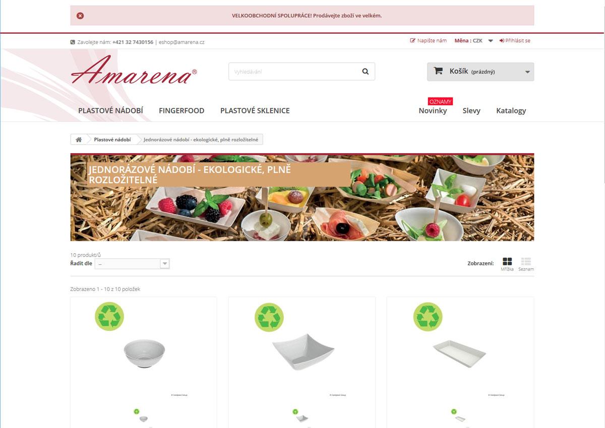 www.amarena.cz - kategória produktov