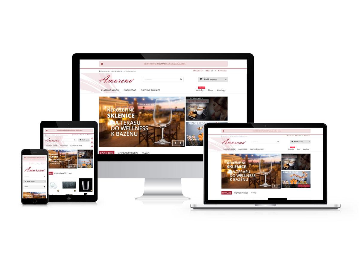 www.amarena.cz responzívny dizajn