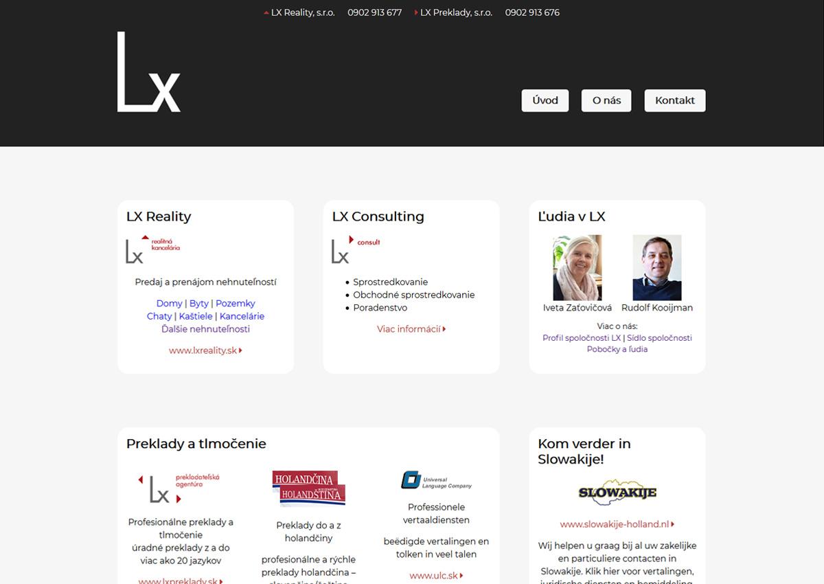 www.lx.sk úvodná stránka