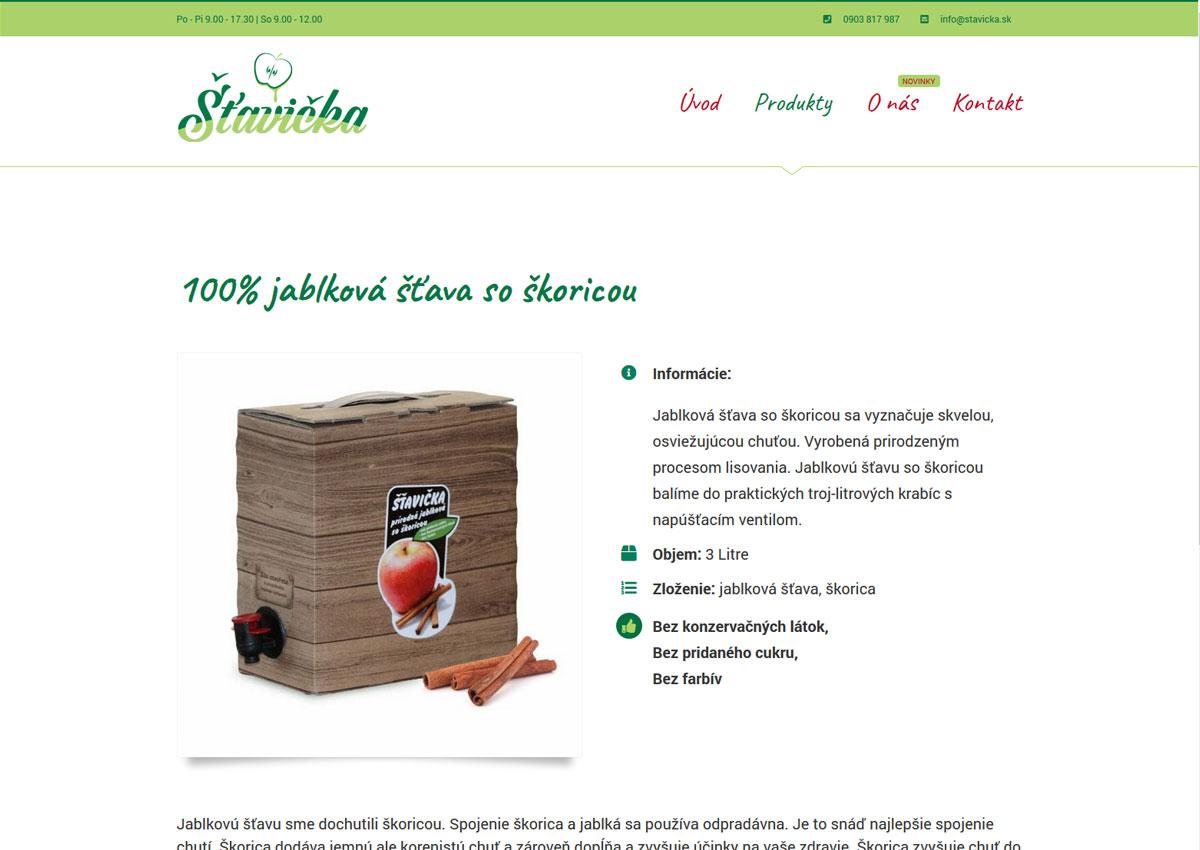 Prezentácia produktu webu www.stavicka.sk