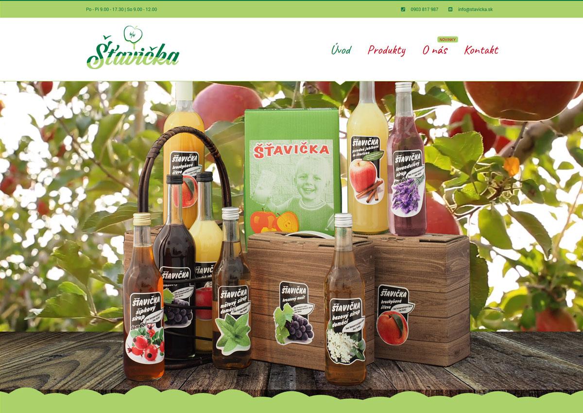 Jednoduchá webstránka s jasnou štruktúrou obsahu